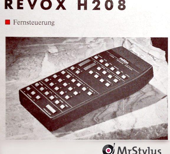 Rarities: REVOX H208 & REVOX H8